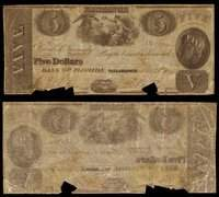 FL Tallahassee State Bank of Florida $5 Mar. 25, 1843