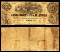 IL Bolton Bank of Southern Illinois $5 Dec. 18, 1856