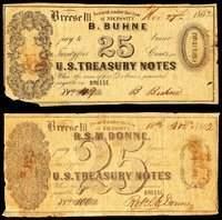 IL. Breese. Pair of Private Merchant Scrip