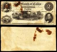 IL. Cairo. City Bank of Cairo. $2. Late 1850s-60s