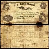 IL. Chebanse. E S Richmond. 25¢. Sept. 30, 1862