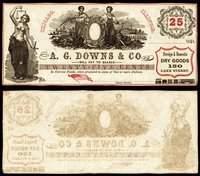 IL. Chicago. A.G Downs. 25¢. Ca. 1861.