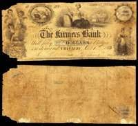 IL. Chicago. Farmers Bank. $5. Oct. 1, 1833.