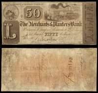 IL Chicago Merchants & Planters Bank $50 Dec. 7, 1838