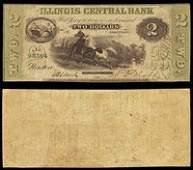 IL Newton Illinois Central Bank $2 Dec. 3, 1850