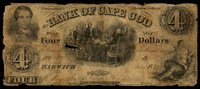 MA Harwich Bank of Cape Cod $4 Oct. 1857