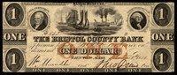 MA Taunton Bristol County Bank $1 Oct. 1853