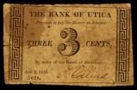 NY. Utica. Bank of Utica. 3¢. January 1, 1816.