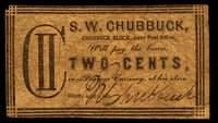 NY. Utica. S.W. Chubbuck. Merchant Scrip Trio