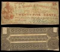 NY. Utica. J.P. Richardson. 25¢. November 3, 1862.