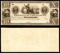 OH. Chillicothe. Bank of Chillicothe. $10. 1830s.