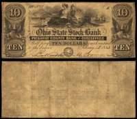 OH Circleville Ohio State Stock Bank $10 Jan. 13, 1852