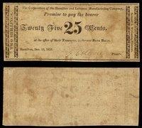 OH Hamilton Hamilton & Lebanon Mnftg Co 25¢ 1815