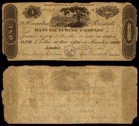 OH Hamilton Hamilton & Rossville Mnftg Co $1 1817