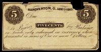 OH. Hanoverton. Unknown Issuer Scrip Set (4)