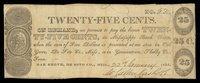 TN Germantown Shelby Co W Callen Rash & Co 25¢ 1838