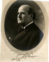 Bryan, Wm Jennings - large photo signed as Sec of St