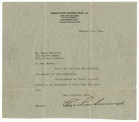 Burroughs, Edgar Rice - Typed Ltr Signed, 1926