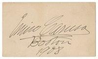 Caruso, Enrico - Signed Card 1908