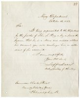 Davis, Jefferson - Letter Signed as Acting Secy Navy
