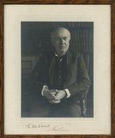 Edison, Thomas - Signed Photo, framed