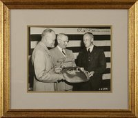Eisenhower, DD and Truman, H - Photo signed by both