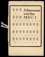 "Mark Twain ""Conversation…1601"" 1913, private printed"