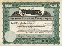 Kinnier Taxi-Cab & Touring (MD) 1914 Baltimore 90 shs