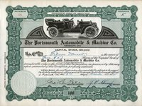Portsmouth Automobile & Machine (OH) 1912 5 shs