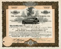 Richard Auto Manufacturing (WV) 1917 200 shs