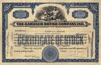Gardner Motor (NY) 1930. #016494. 10 shares