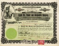 Liquid Air, Power & Automobile (WV) 1899 30 shares