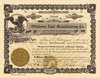 Oklahoma Auto Manufacturing (AZ) 1918 20 shares