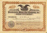 Philadelphia Motor Car (DE) 1916 3 shares