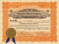 Wharton Motors (TX) 1920. #771. 90 shares