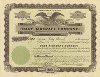 Dare Aircraft (MI) 1920. #99. 5 shares