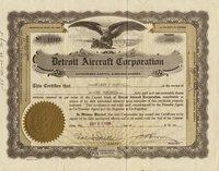 Detroit Aircraft (MI) 1929. #11163. 100 shares