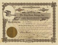 Gray Goose Airways (NV) 1934. #17478. 25 shares