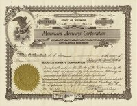 Mountain Airways (WY) 1936. #114. 1 shares