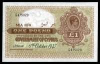 Government of Cyprus 6.10.1947 1 Pound P-24