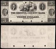 MA Taunton Bristol County Bank $3 18_ (H-MA-1205 G32)