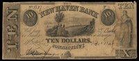 CT New Haven New Haven Bank $10 1 Dec 1846