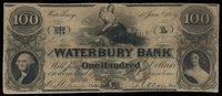 CT Waterbury Waterbury Bank $100 1 Jan 1859