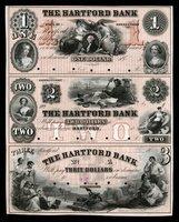 CT Hartford Hartford Bank Uncut Sheet $1-$2-$3