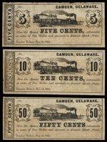 DE Camden Camden Station Nov 16 1862 Scrip Trio (3)