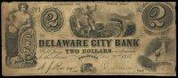DE Delaware City Bank $2 Dec 20 1854