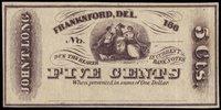 DE Franknford John T Long 5¢ 186_