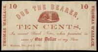 DE Milford Thomas Wallace 10¢ July 1, 1862