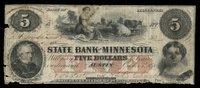 MN Austin State Bank of Minnesota $5 Oct 5 1858