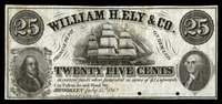 NY Brooklyn William Ely & Co Unissued Pair (2)